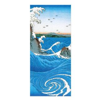 Awa Province, Naruto Whirlpools by Ando Hiroshige Rack Card