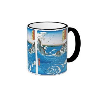 Awa Province, Naruto Whirlpools by Ando Hiroshige Ringer Mug