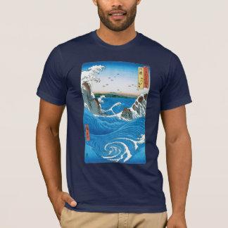 Awa Province, Naruto Whirlpools by Ando Hiroshige T-Shirt