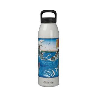 Awa Province, Naruto Whirlpools by Ando Hiroshige Drinking Bottles