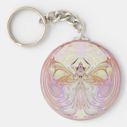 Await Mandala Artwork - Fractal Keychain