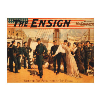 Awaiting the Execution of the Ensign Theatre Canvas Print