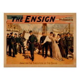 Awaiting the Execution of the Ensign Theatre Poster