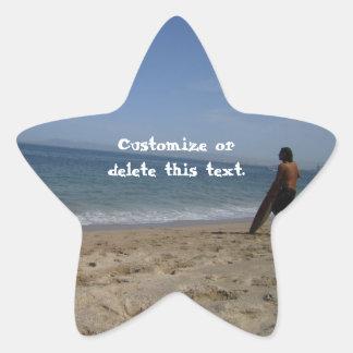 Awaiting the Next Wave; Customizable Star Sticker