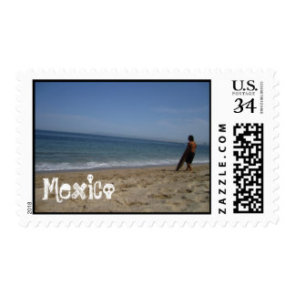 Awaiting the Next Wave; Mexico Souvenir Postage