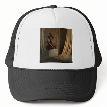 Halloween Themed AWAITING THE WITCHING HOUR TRUCKER HAT
