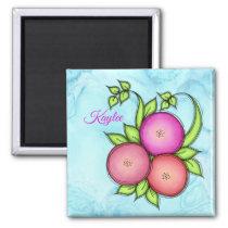 Awake Alcohol Ink Doodle Flower Magnet