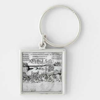 Awake, why sleepest thou, O Lord?' Silver-Colored Square Keychain