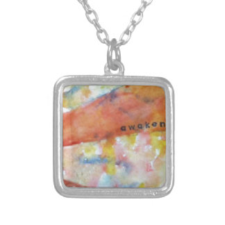 Awaken mindfulness pendant necklace