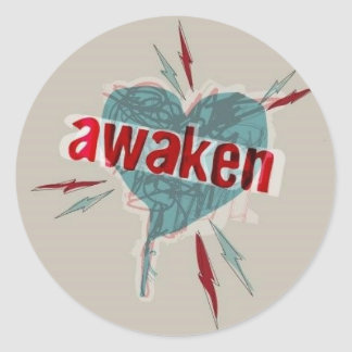 awaken classic round sticker