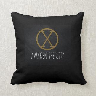 Awaken The City Throw pillow