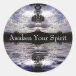 Awaken Your Spirit Classic Round Sticker