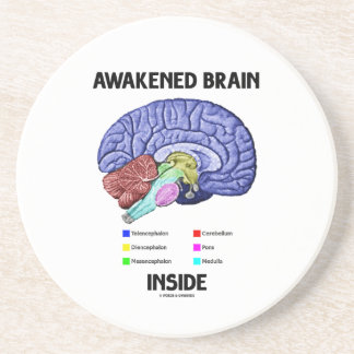 Awakened Brain Inside (Brain Anatomy) Drink Coaster