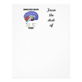 Awakened Brain Inside (Brain Anatomy) Letterhead