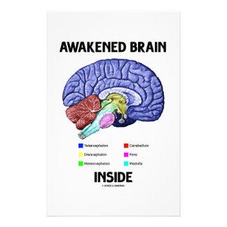 Awakened Brain Inside (Brain Anatomy) Stationery