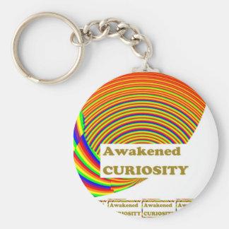 Awakened CURIOSITY : Unique ART n WISDOM Words Key Chain