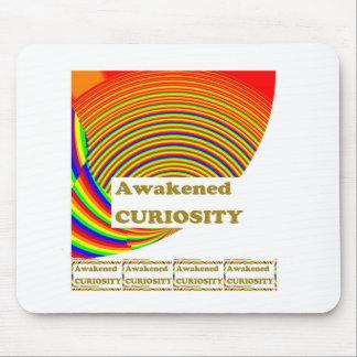 Awakened CURIOSITY Unique ART n WISDOM Words Mousepads