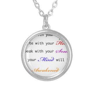 Awakened Round Pendant Necklace