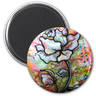 Awakening, a drawing by Shadia Zayed 2 Inch Round Magnet