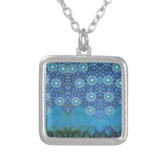 Awakening Blue Silver Plated Necklace