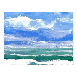 Awakening - CricketDiane Ocean Waves Art Products Postcard