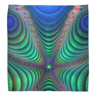 Awakening Fractal Absract Art Blue Green Bandana