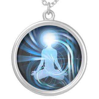 Awakening Light (blue) Silver Plated Necklace