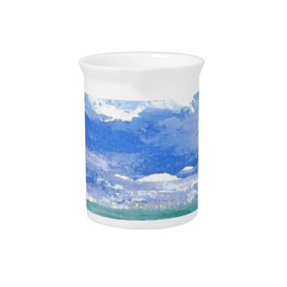 Awakening Ocean Art Gifts CricketDiane Sea Waves Beverage Pitcher