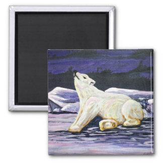 Awakening Polar Bear 2 Inch Square Magnet
