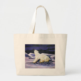 Awakening Polar Bear Large Tote Bag