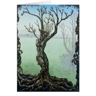 Awakening Spring Fairy Dryad Fantasy Greeting Card