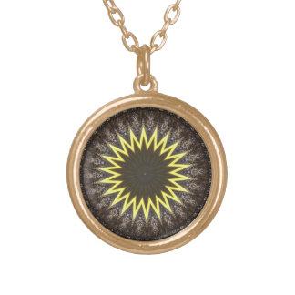 Awakening Sun Mandala Gold Plated Necklace
