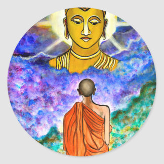 Awakening the Buddha within Classic Round Sticker