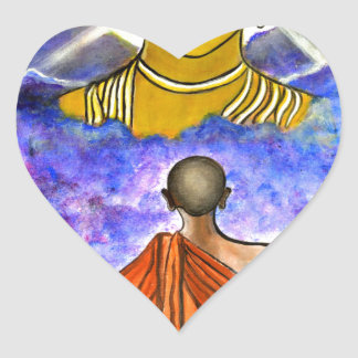 Awakening the Buddha within Heart Sticker