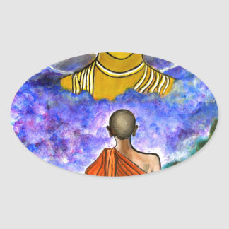 Awakening the Buddha within Oval Sticker