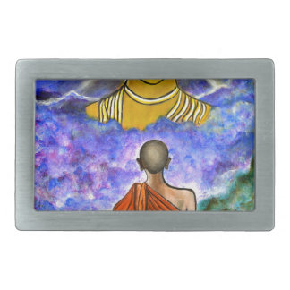 Awakening the Buddha within Rectangular Belt Buckle