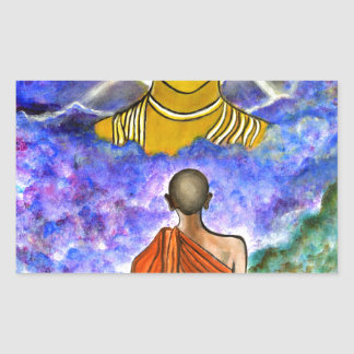 Awakening the Buddha within Rectangular Sticker