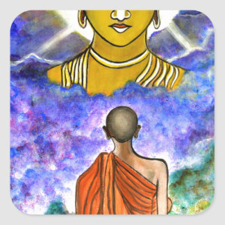 Awakening the Buddha within Square Sticker