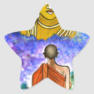 Awakening the Buddha within Star Sticker