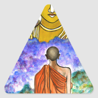 Awakening the Buddha within Triangle Sticker