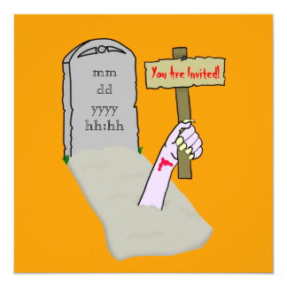 Awakening Zombie Party Invitation Template