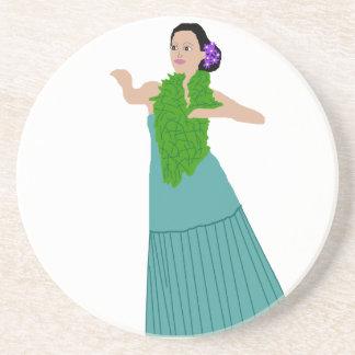 Awana(modern) Hula Dancer coaster