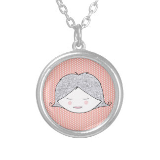 Award a medal to Argent and pea for little girl Round Pendant Necklace