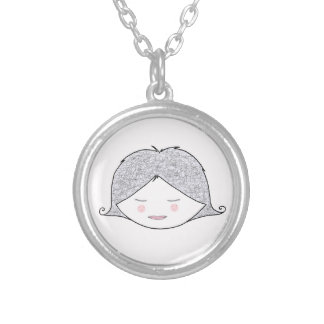 """Award a medal to Argent """"Charlotte"""" for little gir Round Pendant Necklace"""