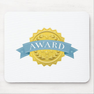 Award badge or medal mouse pad