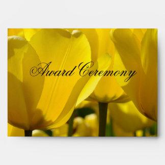 Award Ceremony Envelopes Invitations Tulip Flowers