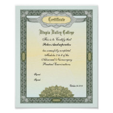 Award Certificate Poster at Zazzle