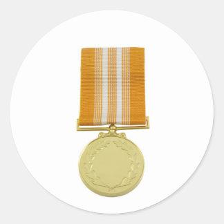 Award medal classic round sticker