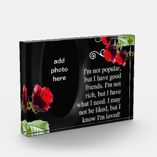 Award message customize photo