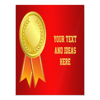 AWARD RIBBON gold I + your backgr. & text Magnetic Card